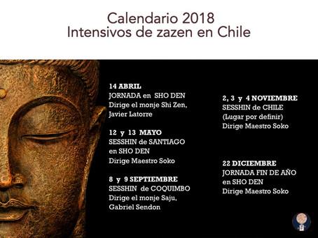 Calendario de práctica 2018