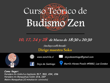 Curso Teórico de Budismo Zen - Marzo 2017 - Cerradas inscripciones