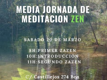 Media jornada de meditación zen online con el Maestro Soko