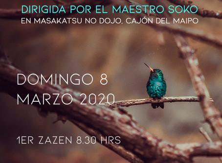 Media jornada de meditación zen con el maestro Soko - Cajón del Maipo - Marzo 2020