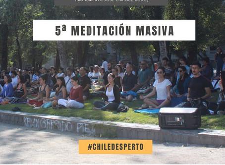 5ta Meditación masiva en plaza de la aviación