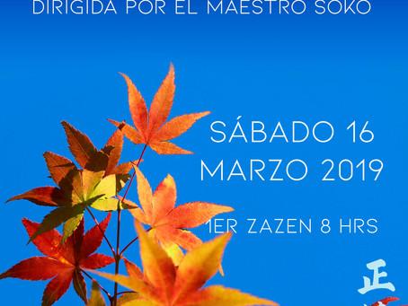 Jornada de Meditación Marzo - dirigida por el maestro Soko