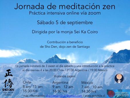 Jornada de meditación zen online - Septiembre 2020