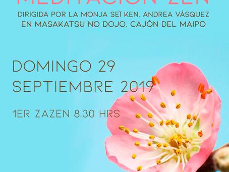 Jornada de meditación zen en Cajón del Maipo - Septiembre 2019