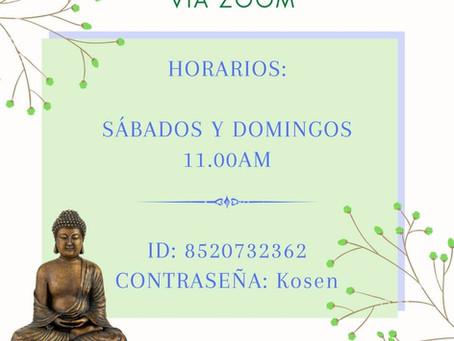Meditación zen vía ZOOM