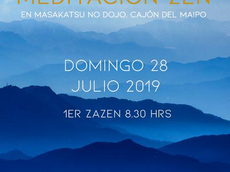 Jornada de meditación zen en Cajón del Maipo - Julio 2019
