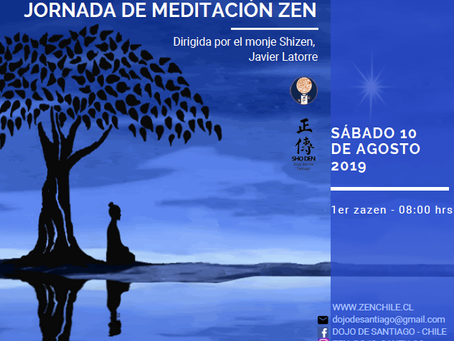 Jornada de meditación en Santiago Agosto 2019
