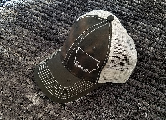Home Hat Black/Silver