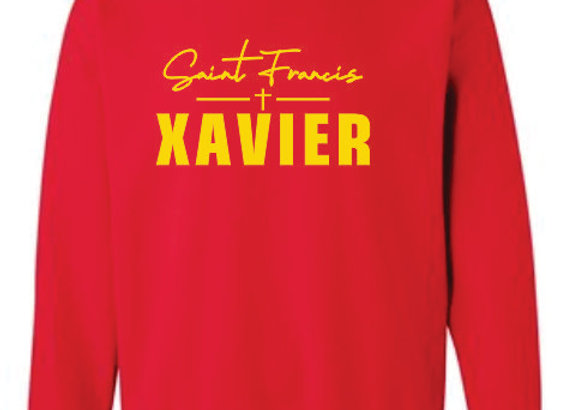Xavier Red Crew Sweatshirt