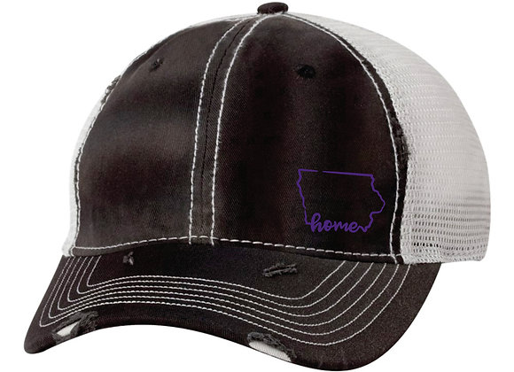 Home Hat Black/Silver - Silver Thread