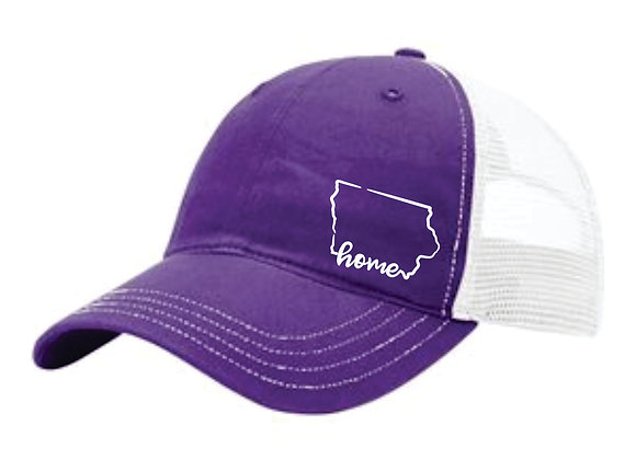 Home Hat Purple/White - White Thread