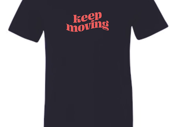 Keep Moving Bella Navy Tshirt