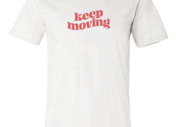 Keep Moving Bella White Tshirt