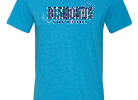 Diamonds Bella Triblend Tshirt