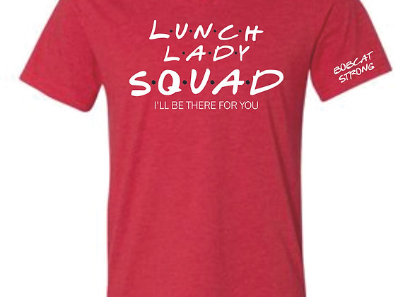 Lunch Ladys Bella Vneck-Heather Red