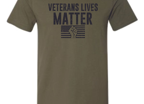 Veterans Military Green Bella Tshirt