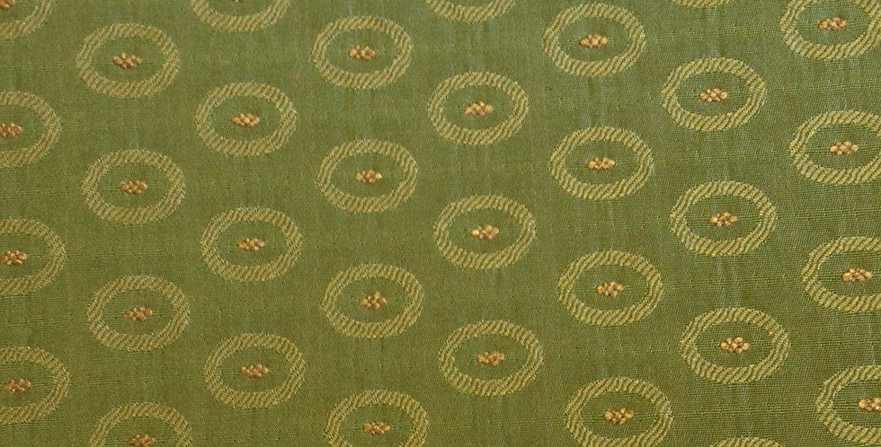 Green Monochromatic Ovals Fabric