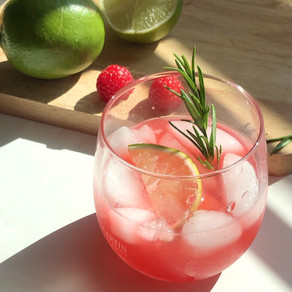 RASPBERRY LIMEADE INFUSED WITH ROSEMARY