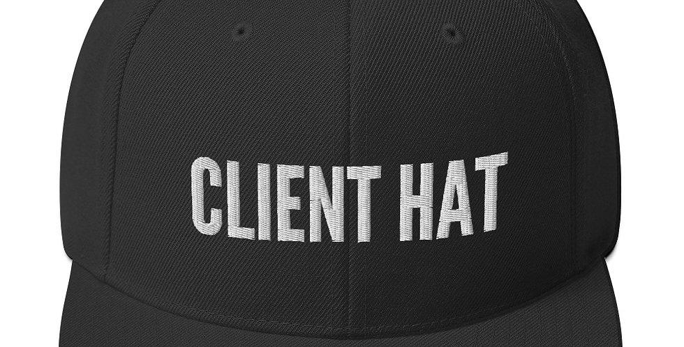 Client Hat Snapback Hat