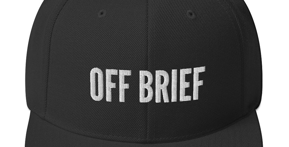 Off Brief Snapback Hat