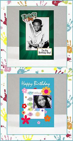 birthday boy and birthday girl greeting cards