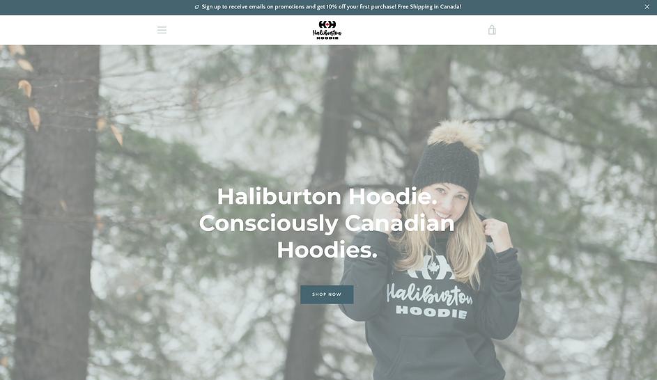 Haiburton Hoodie E-Commerce