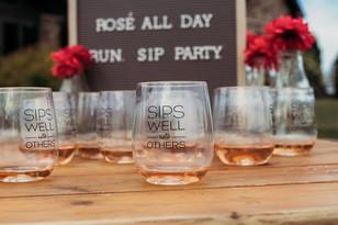 Tagline on wine glasses