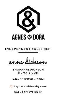 Agnes and Dora Business Card Design