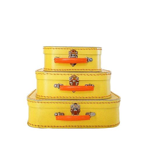 Trio de Maletinhas Amarelas