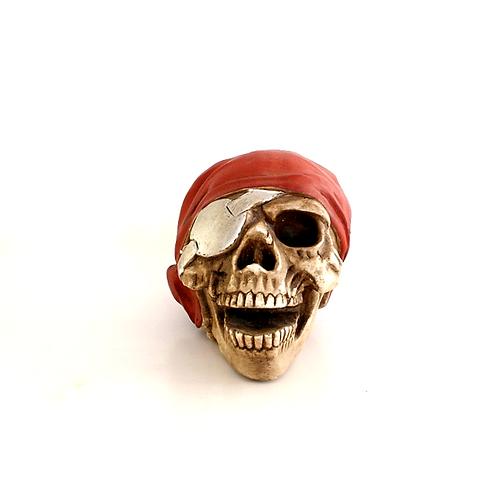 Crânio Pirata Vermelho
