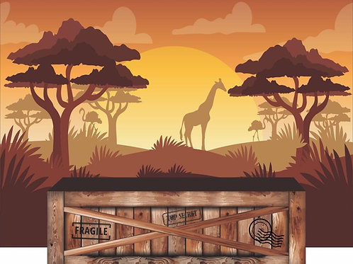 Painel e Saia de Mesa Safari