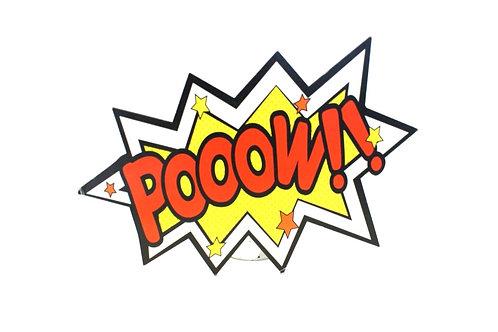 Plaquinha Pooow
