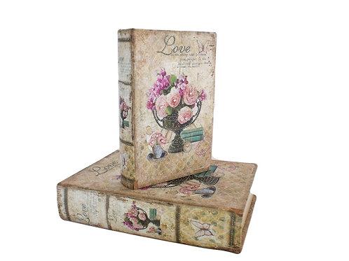 Duo de Caixas Livro Floral