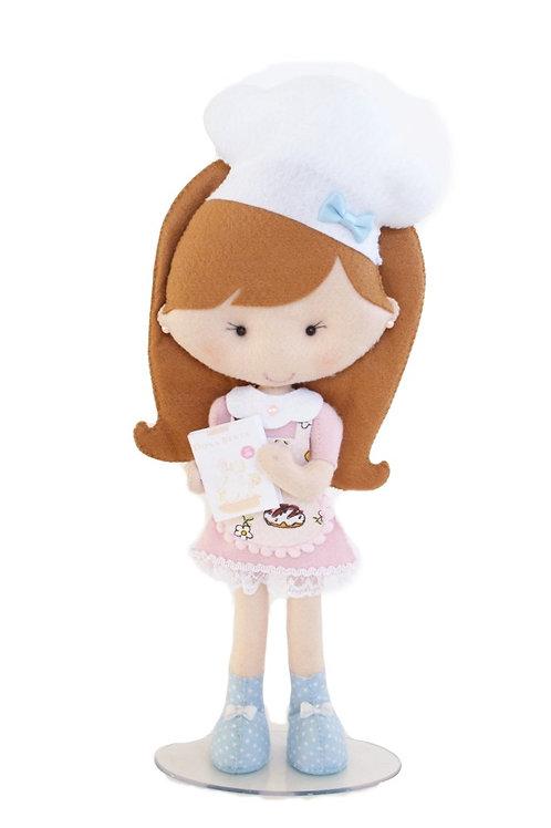 Boneca Confeiteira Rosa