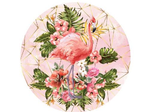 Painel Redondo Flamingo