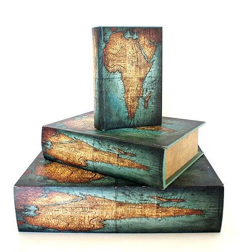 Trio de Caixas Livro Mapas