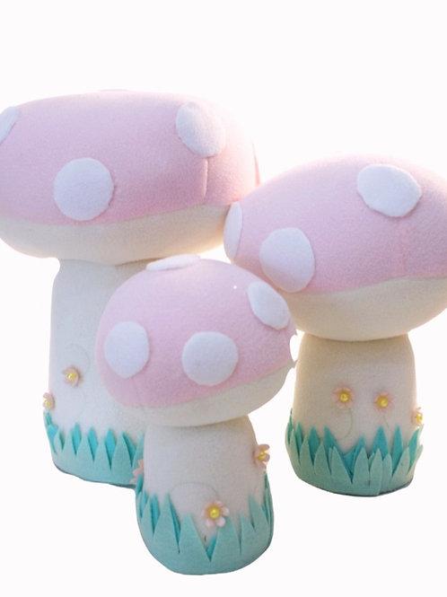 Trio de Cogumelos Rosa