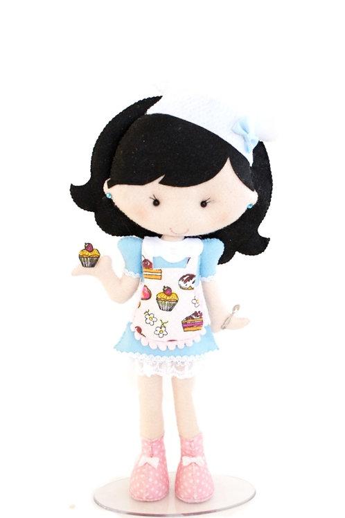 Boneca Confeiteira Azul