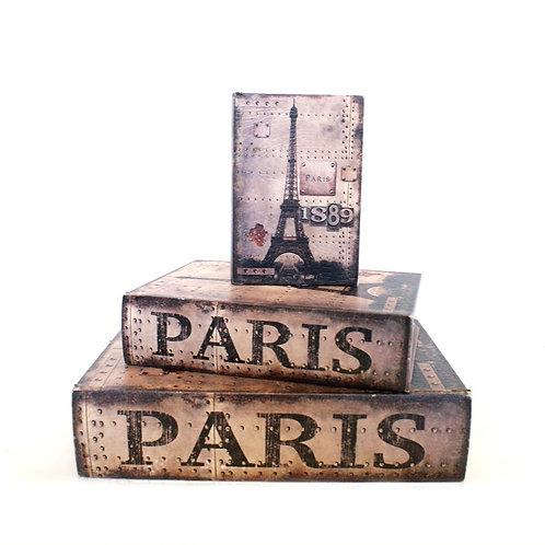 Trio de Caixas Livro Paris