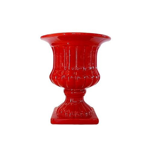Vaso Vermelho Taça Alta