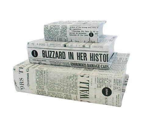 Trio de Caixas Livro Jornal