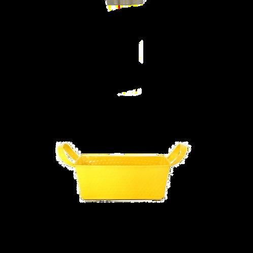 Cachepô Retangular Amarelo