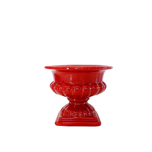 Vaso Vermelho Taça Baixa