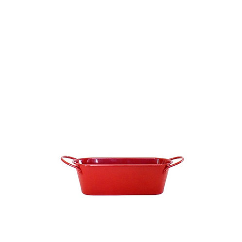 Cachepô Vermelho Oval