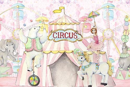 Painel Circo Rosa