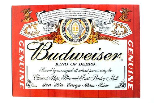 Placa Budweiser