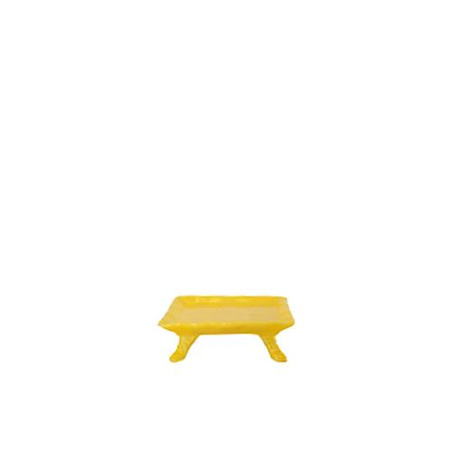 Bandeja Amarelo Gema com Pé
