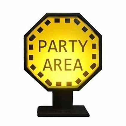 Placa Party Area