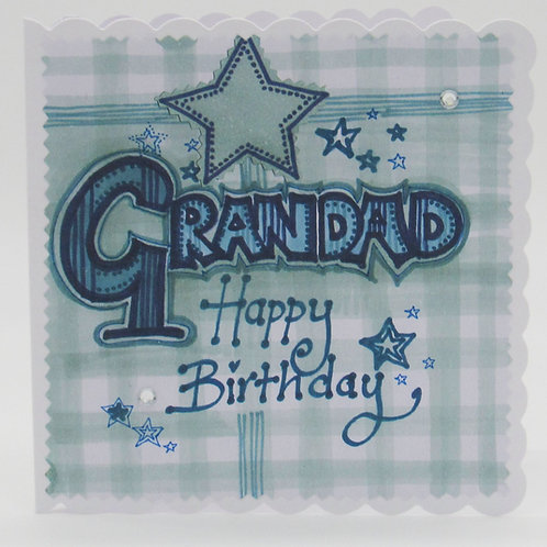 Personalised Grandad Happy Birthday Card
