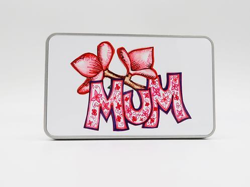 Floral Mum Design Tin Box